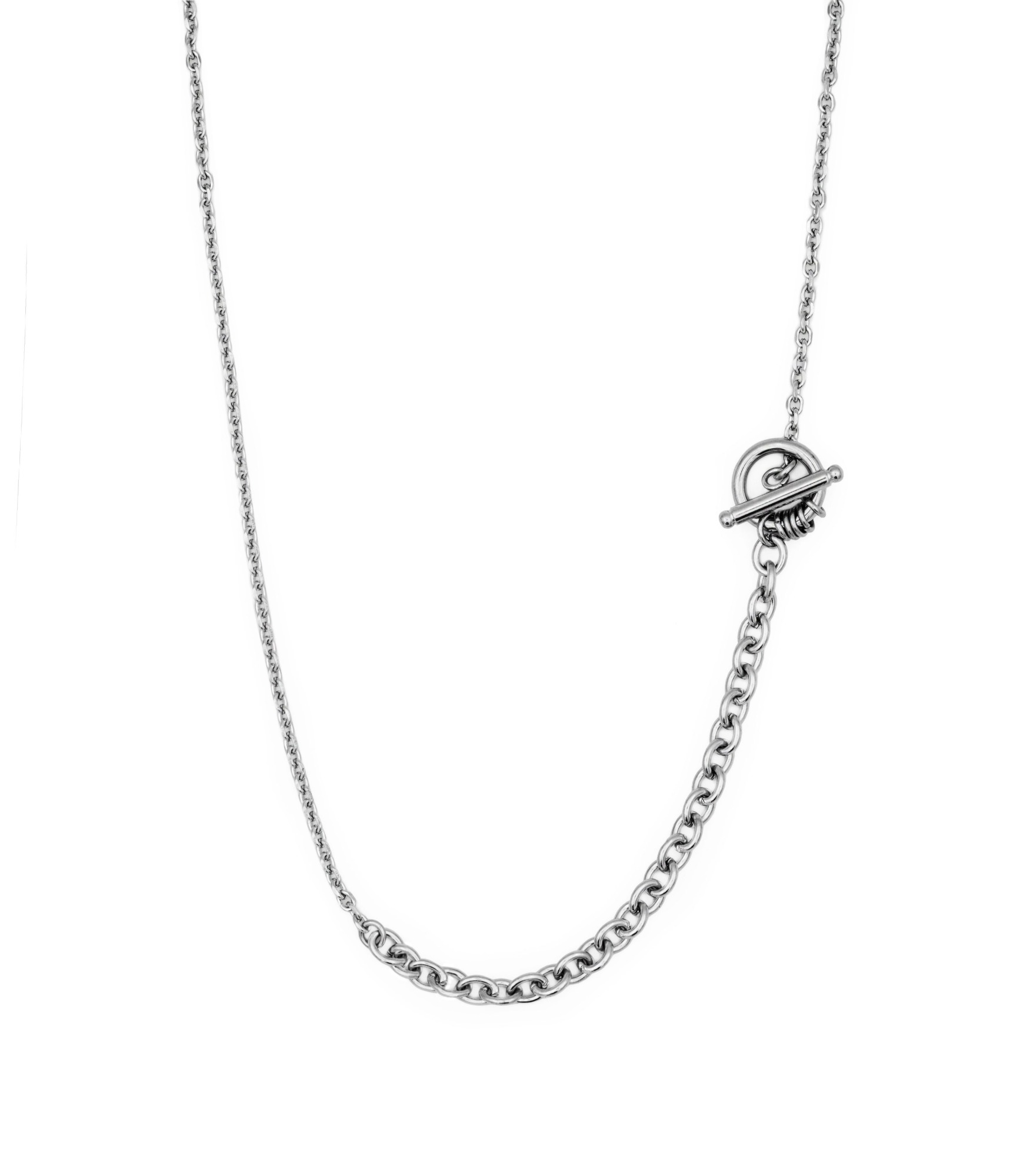 Chain Mix Necklace (Toggle bar)