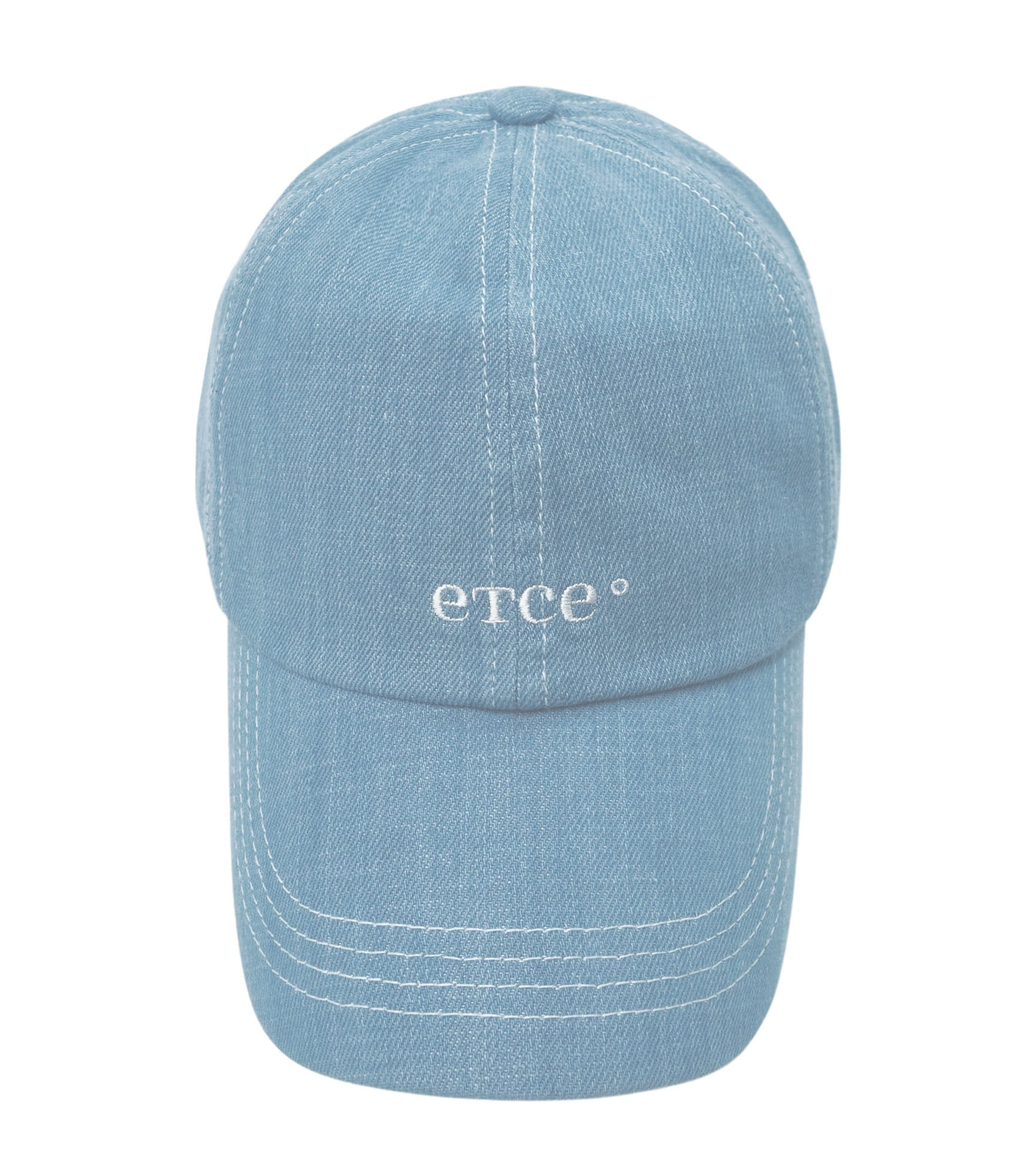 Basic Logo Washed Denim Cap (Light gray)