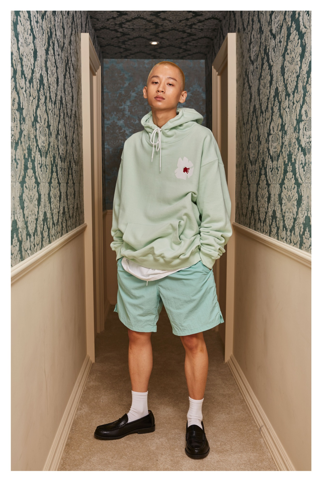 Basic Logo Standard Fit Shorts (Mint)